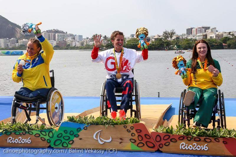 Susan won a Bronze Medal at the Rio Paralympic Games